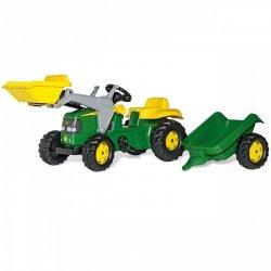 Rolly Toys rollyKid Traktor na pedały John Deere z łyżką i przyczepą