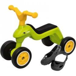 Big Jeździk Rowerek Biegowy Ciche Koła Runbike Zielony + Ochraniacze na buty