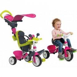 Smoby rowerek Baby Driver trzykołowy Różowy