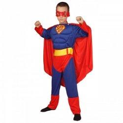 Strój Superman Kostium Maska Pas Peleryna 110-116cm Przebranie