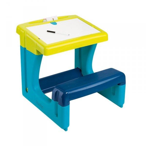 Smoby Tablica stolik Dwustronna biurko z ławeczką Flamastry kreda