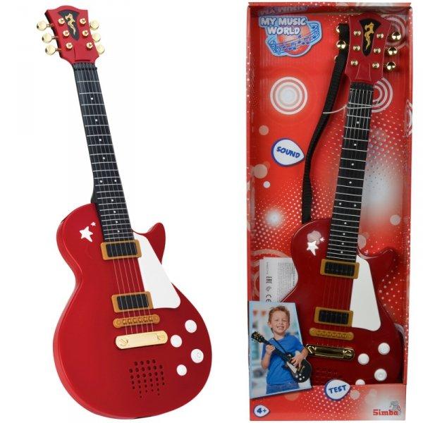 Simba Bordowa Gitara Rockowa Ze Strunami Efekty Dźwiękowe