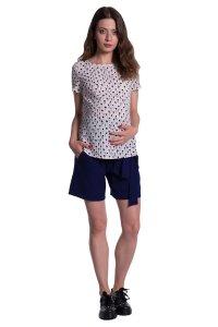 Spodnie ciążowe szorty z panelem 4324