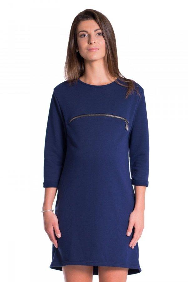 Sukienka ciążowa i do karmienia dresowa 3730