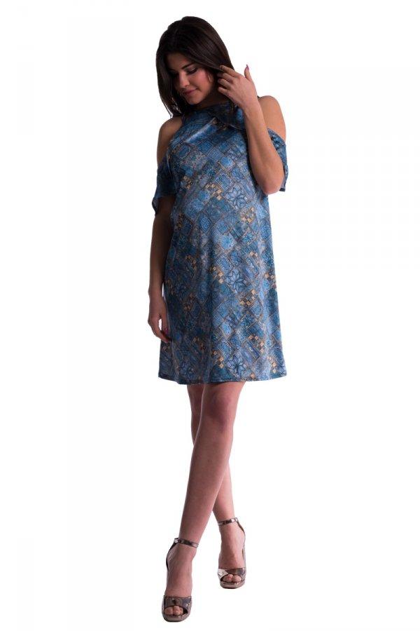 Sukienka ciążowa z fantazyjnym rękawem 3525