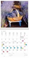 Kalendarz ścienny wieloplanszowy Provence 2022 z naklejkami - styczeń 2022