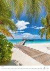 Kalendarz ścienny wieloplanszowy Tropical Beaches 2021 - kwiecień 2021