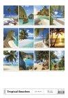 Kalendarz ścienny wieloplanszowy Tropical Beaches 2021 - tylna okładka