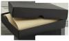 Etui na wizytówki i karty czarny ozdobne pudełko