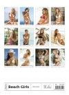 Kalendarz ścienny wieloplanszowy Beach Girls 2021 - tylna okładka