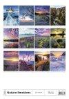 Kalendarz ścienny wieloplanszowy Nature Emotions 2021 - tylna okładka
