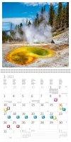 Kalendarz ścienny wieloplanszowy National Parks 2022 z naklejkami - styczeń 2022