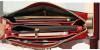 Portfel czerwony z ekoskóry zamykany na suwak  - kieszonki