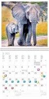 Kalendarz ścienny wieloplanszowy Animal friends 2022 z naklejkami - styczeń 2022