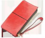 Portfel z ekoskóry czerwony