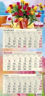 Kalendarz trójdzielny R15 BUKIET TULIPANÓW 2020