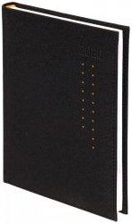 Kalendarz książkowy 2020 A4 dzienny papier biały drukowane registry oprawa ROSSA czarna/pomarańczowe kropki - oprawa przeszywana