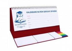 Kalendarz biurkowy EXCLUSIVE PLUS na rok szkolny 2019/2020 bordowy