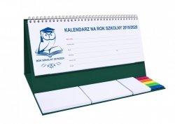 Kalendarz biurkowy EXCLUSIVE PLUS na rok szkolny 2019/2020 zielony
