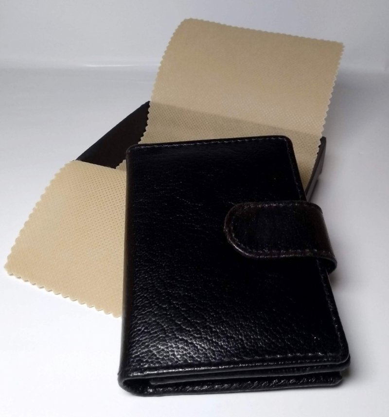 Etui na wizytówki i karty czarny