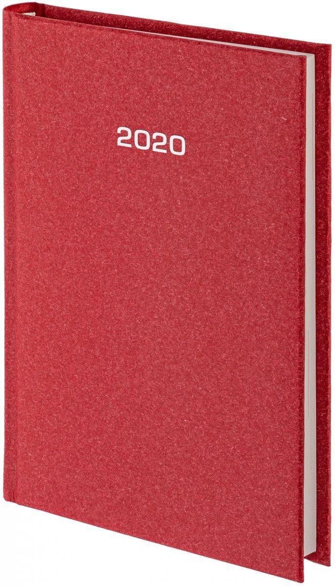 Kalendarz książkowy 2020 A4 dzienny oprawa NATURA bordowa