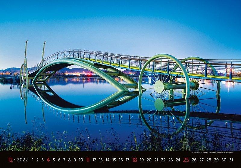 Kalendarz ścienny wieloplanszowy Bridges 2022 - grudzień 2022