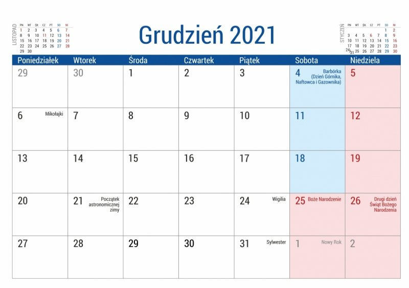 Kalendarz biurkowy szkolny PLANO dla uczniów i nauczycieli kartka z kalendarium