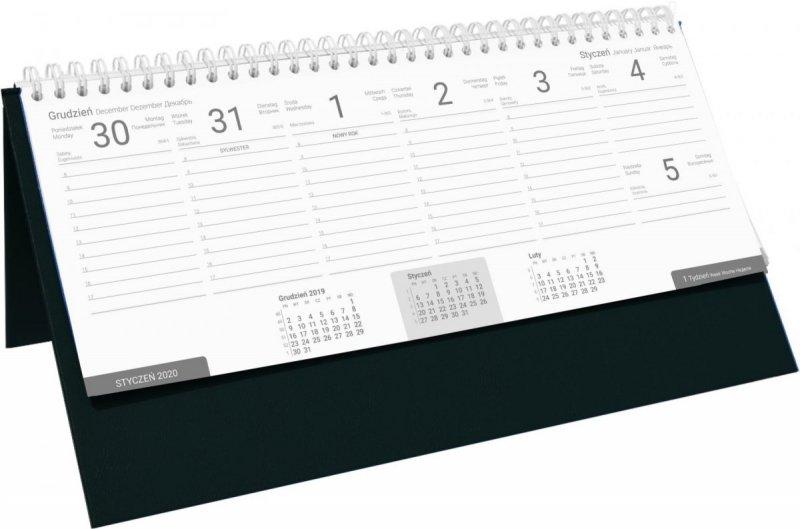 Kalendarz biurkowy stojąco-leżący BUSINESS LINE czarny