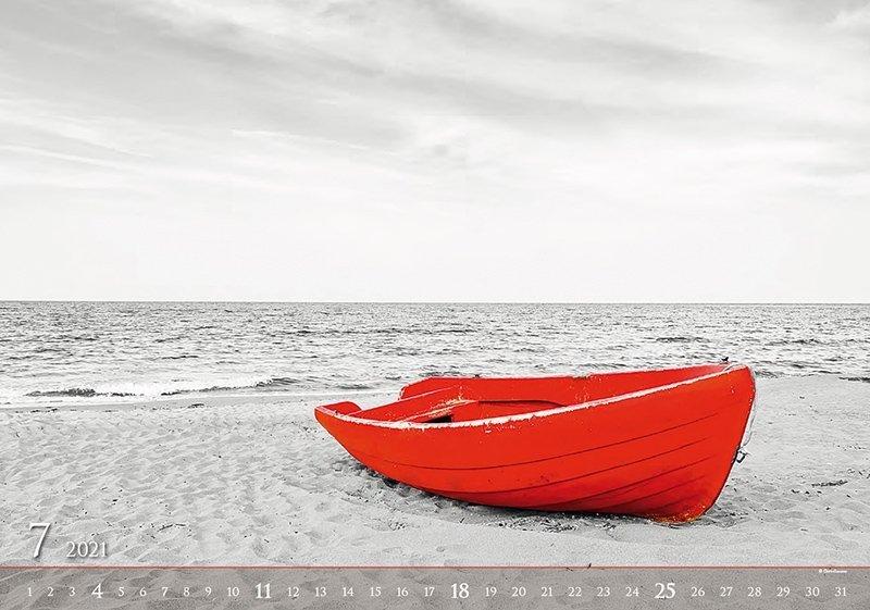 Kalendarz ścienny wieloplanszowy Black Red 2021 - exclusive edition - lipiec 2021