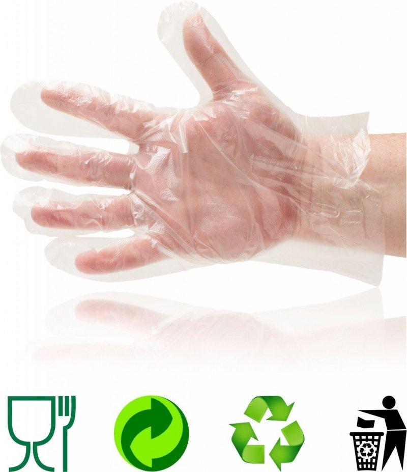 Rękawiczki jednorazowe HDPE 100 szt. w kolorze transparentnym ROZMIAR M WYSYŁKA NATYCHMIAST   język polski   PowrótZapisz i wyjdźZapisz