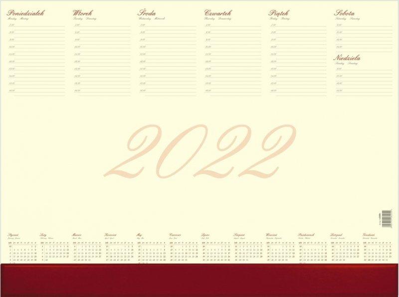Biuwar duży A2 52-kartkowy BUSINESS Z LISTWĄ PCV 2022