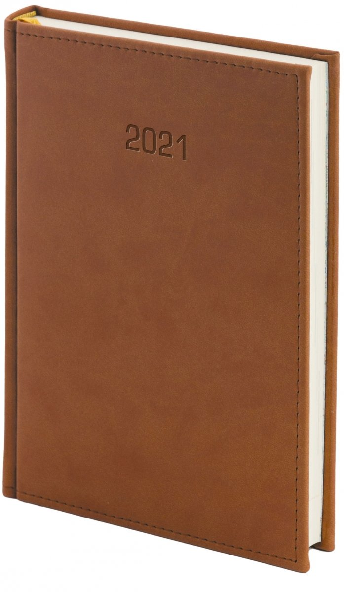 Kalendarz książkowy 2021 A4 dzienny oprawa VIVELLA EXCLUSIVE - brązowa