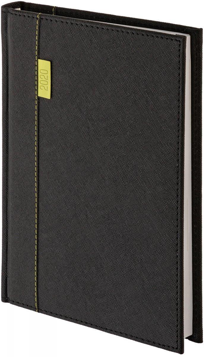 Kalendarz książkowy A4 dzienny oprawa 2020 Vegas czarna