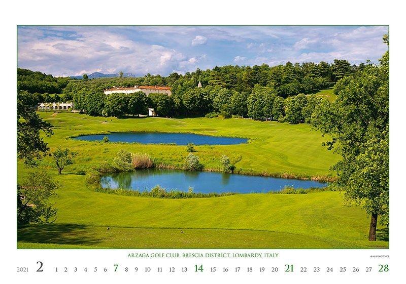 Kalendarz ścienny wieloplanszowy Golf 2021 - exclusive edition - luty 2021