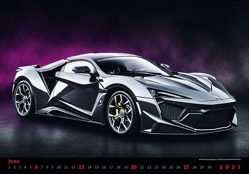 Kalendarz ścienny wieloplanszowy Cars 2021 - czerwiec 2021