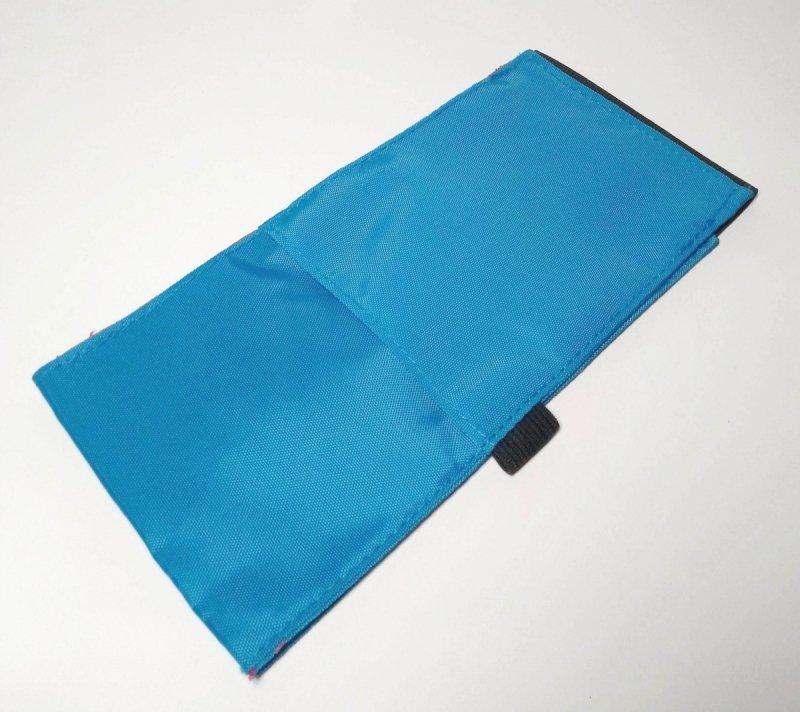 Organizer na kalendarz w kolorze niebieskim - tył