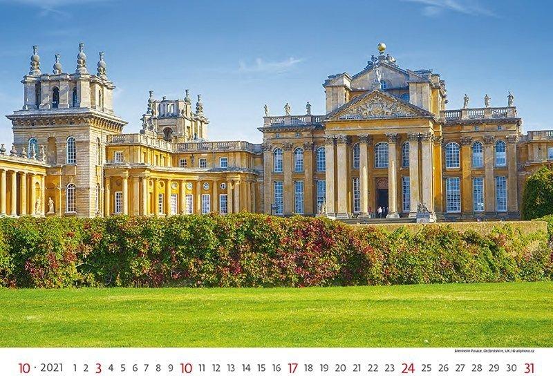 Kalendarz ścienny wieloplanszowy World Heritage 2021 - październik 2021