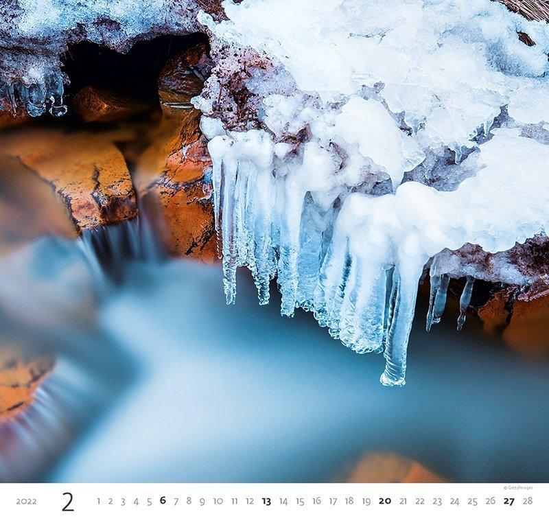 Kalendarz ścienny wieloplanszowy Aqua 2022 - luty 2022