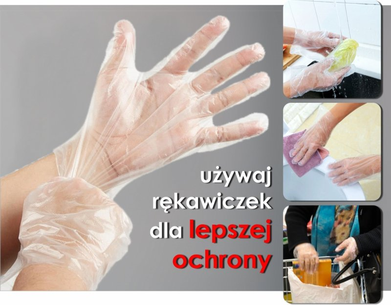 rękawiczki foliowe jednorazowe dla ochrony zdrowia