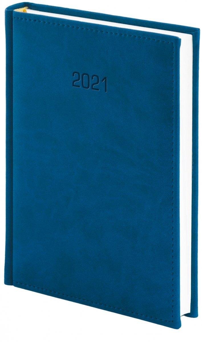 Kalendarz książkowy 2021 A4 dzienny oprawa VIVELLA EXCLUSIVE - granatowa