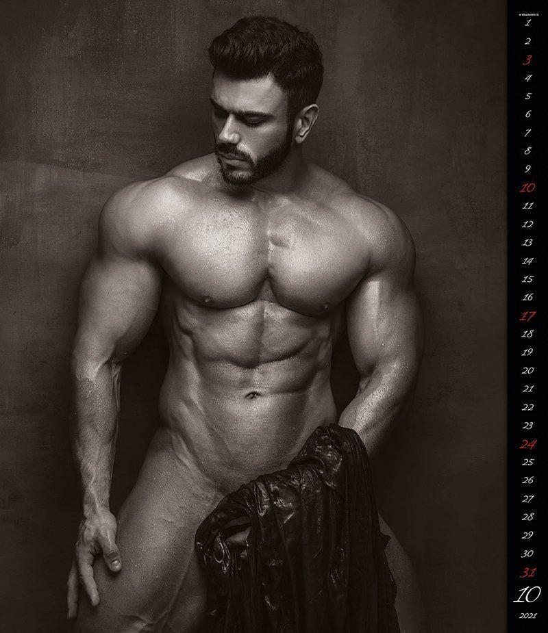 Kalendarz ścienny wieloplanszowy Men 2021 - exclusive edition - październik 2021