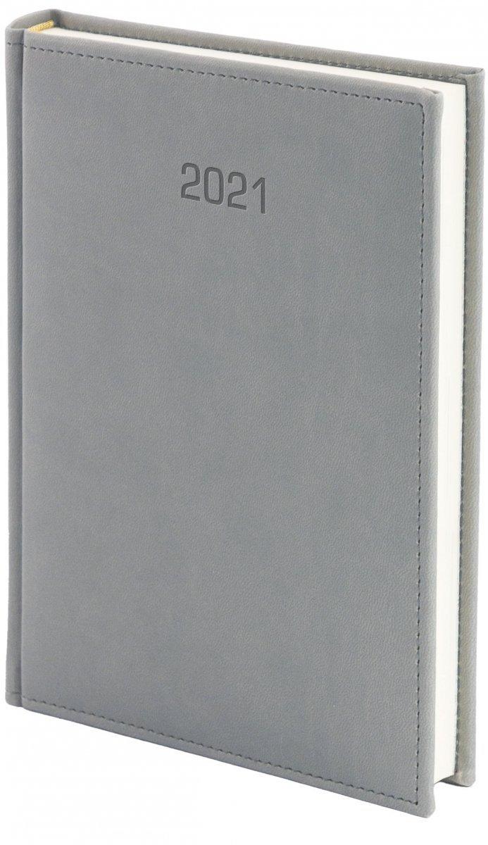 Kalendarz książkowy 2021 A4 dzienny oprawa VIVELLA EXCLUSIVE - szara
