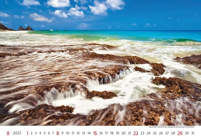 Kalendarz ścienny wieloplanszowy Sea 2021 - sierpień 2021