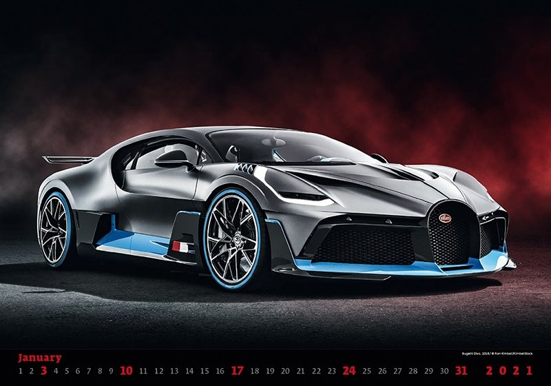 Kalendarz ścienny wieloplanszowy Cars 2021 - styczeń 2021