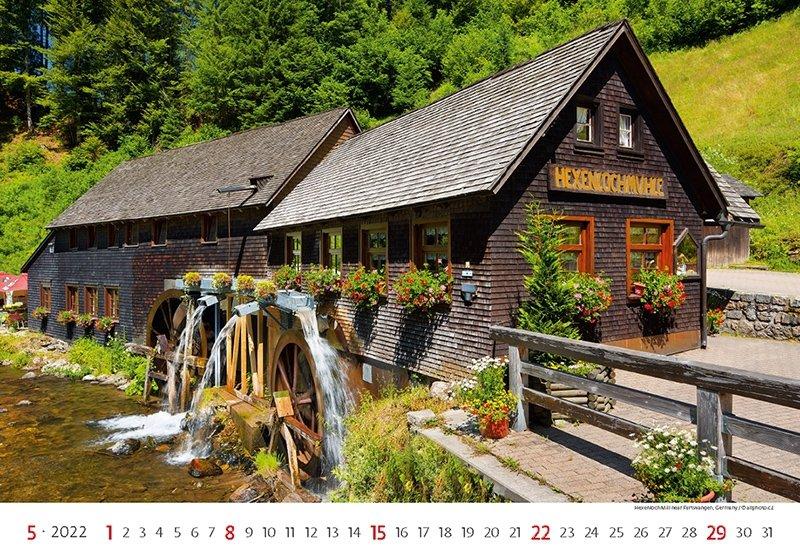 Kalendarz ścienny wieloplanszowy Water Mill 2022 - maj 2022