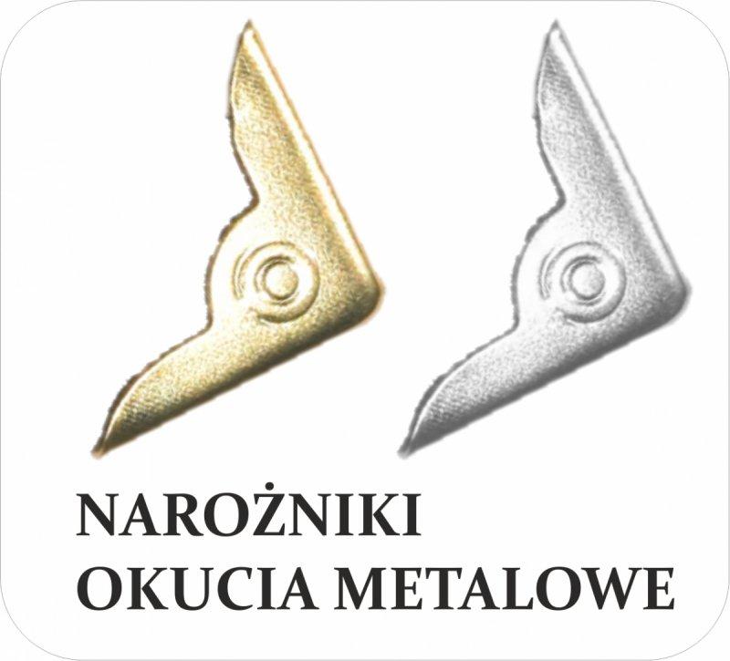 Narożniki metalowe do notesu