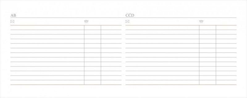Kalendarz biurkowy EXCLUSIVE PLUS na rok szkolny 2019/2020 - miejsce na teleadresowe