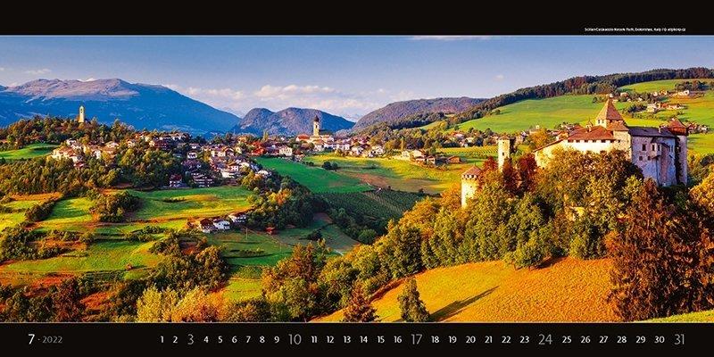 Kalendarz ścienny wieloplanszowy Panoramaphoto 2022 - exclusive edition - lipiec 2022
