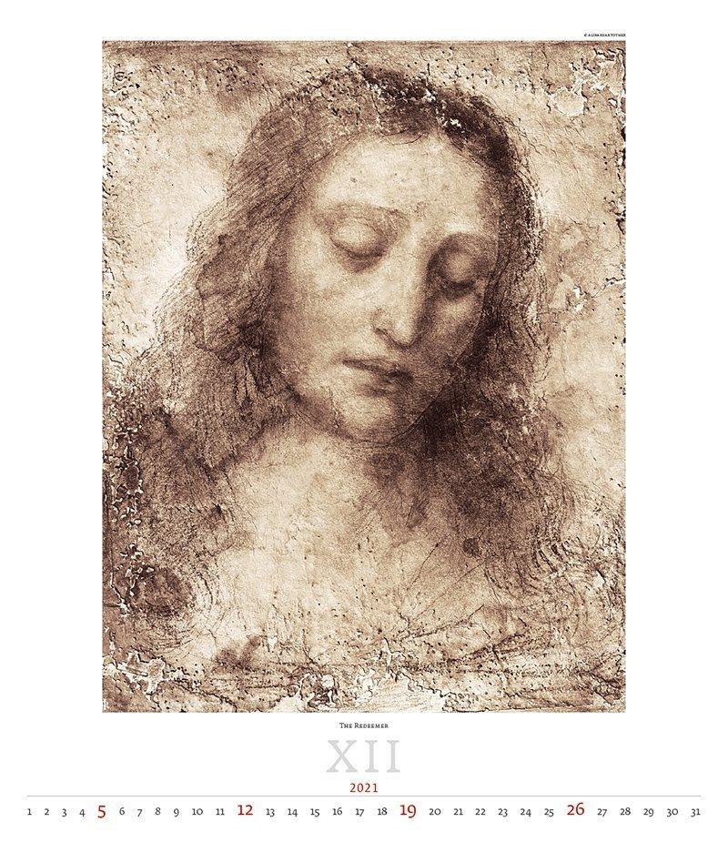 Kalendarz ścienny wieloplanszowy Leonardo da Vinci 2021 - exclusive edition  - grudzień 2021