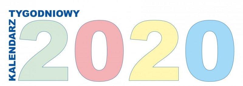 Kalendarz biurkowy stojący POZIOMY TYGODNIOWY 2020 - okładka